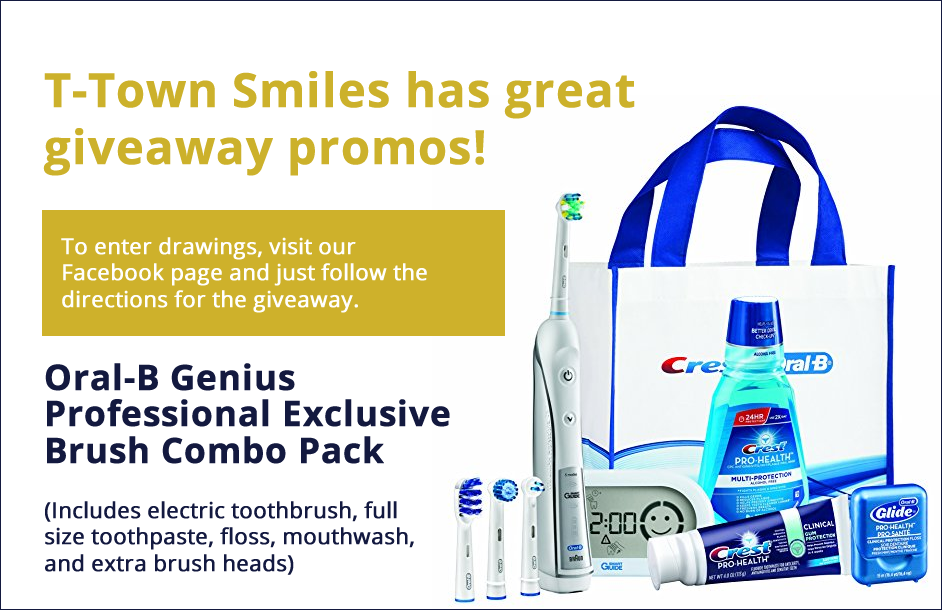 Dental Services - Oral-B Genius Professional Exclusive Brush Combo Pack Giveaway Promo - Tulsa Dentist Dr. Scott Street at T-Town Smiles.